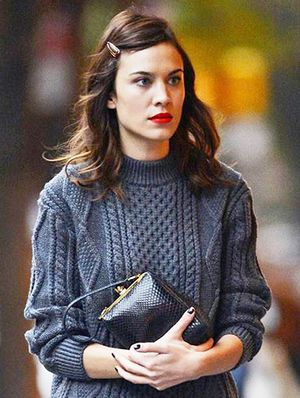 Weekend Dare: Try Alexa Chung's Old-School Hair Clip