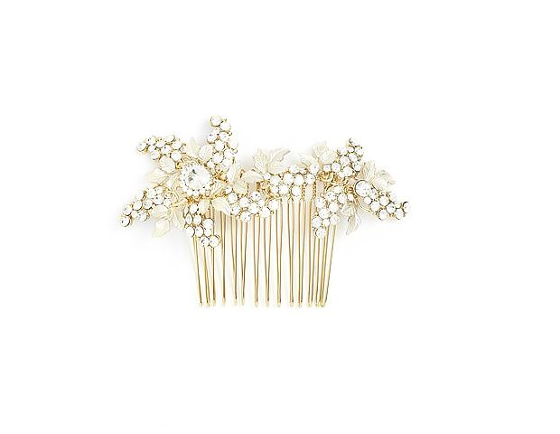 Wedding Belles New York  Luella Czech Crystal and Pearl Comb