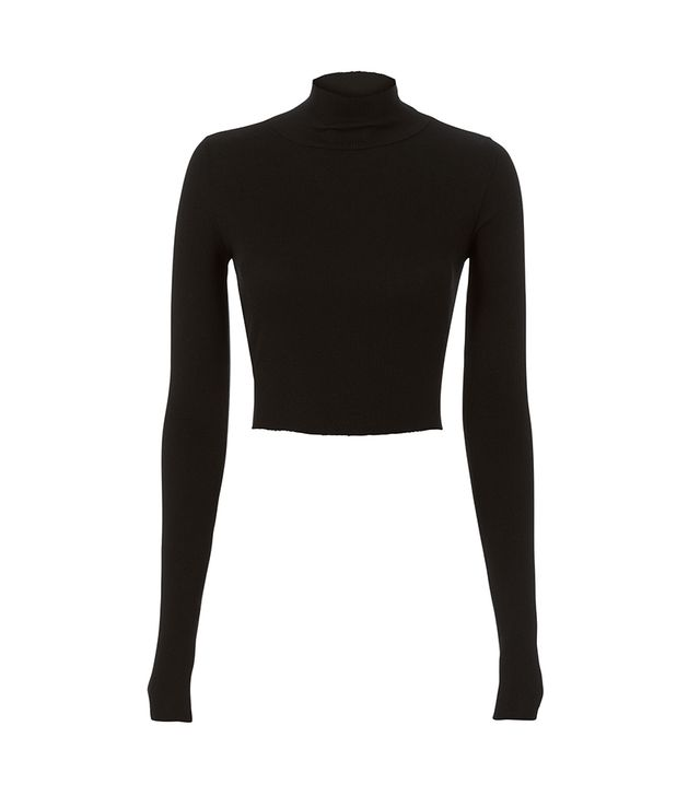 Cotton Citizen Melbourne Cropped Turtleneck Black M