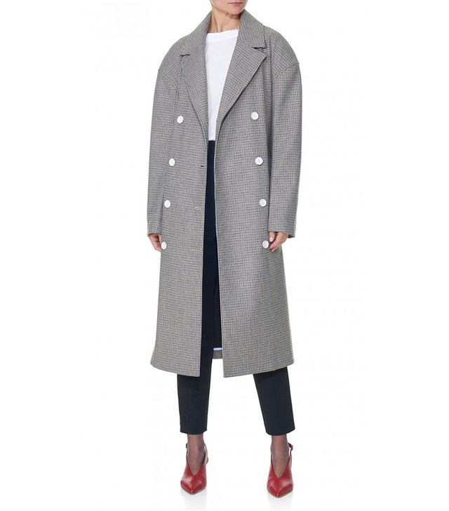 Atticus Houndstooth Oversized Trench