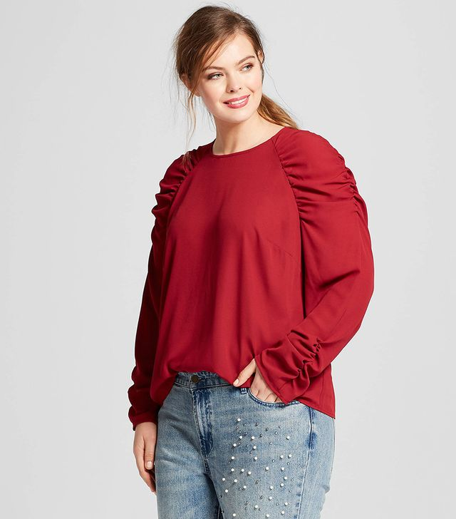 Plus Size Long Sleeve Party Top