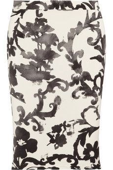 Moschino Cheap and Chic  Printed Crepe Pencil Skirt