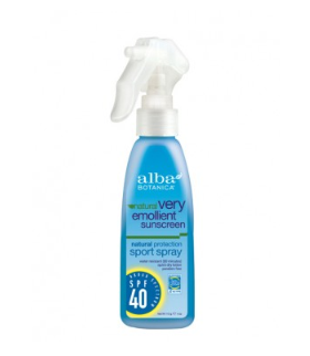 Alba Botanica Very Emollient Sunscreen Sport Spray SPF 40