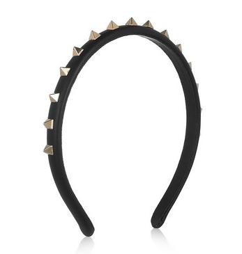 Valentino Studded Leather Headband