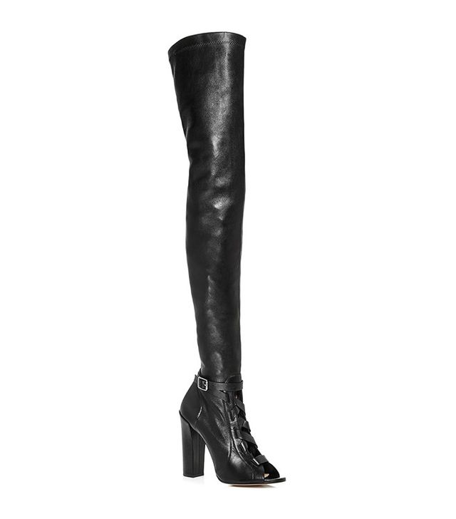 Paul Andrew Black Kidskin Liberty Over-the-Knee Boots