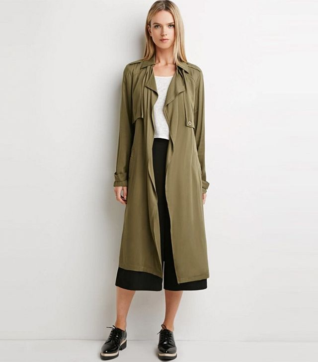 Forever 21 Contemporary Life in Progress Open-Front Trench Coat