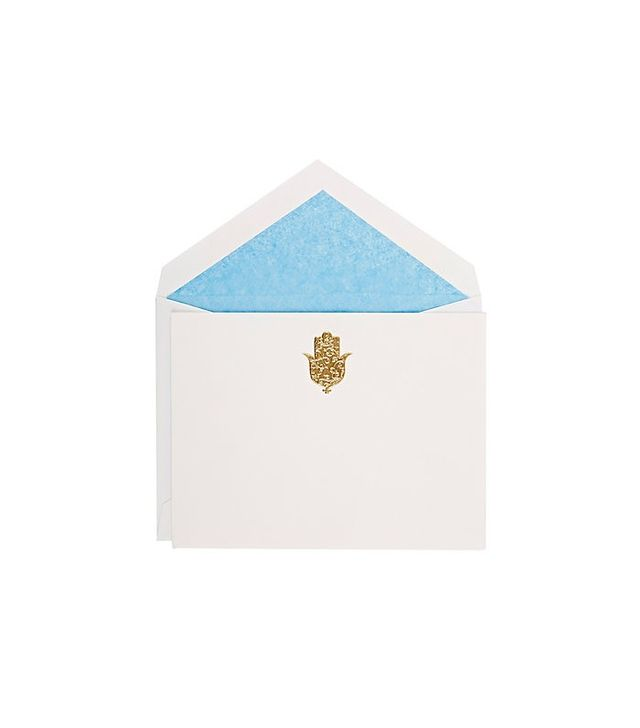 Madeline Weinrib Hamsa-Embossed Stationery Notecards