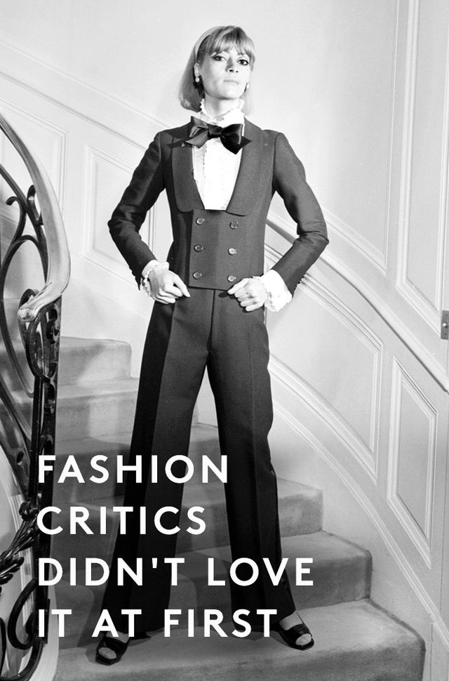 """""""At first, editors and buyers didn't react well to Saint Laurent's collection;New York Timescritic Gloria Emerson described his collection as 'lumpy' and 'outdated' and said..."""