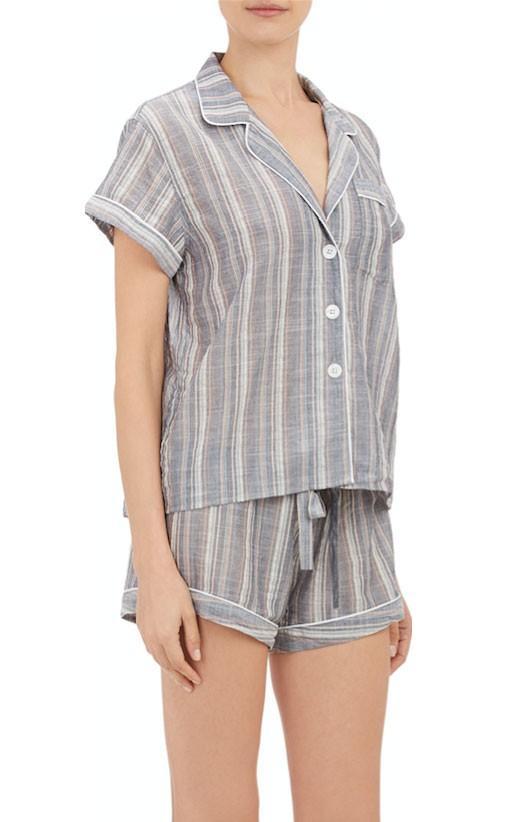 Steven Alan Multi-Stripe Pajama Shirt