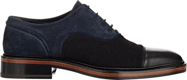 Lanvin Bi-Color Cap-Toe Oxfords