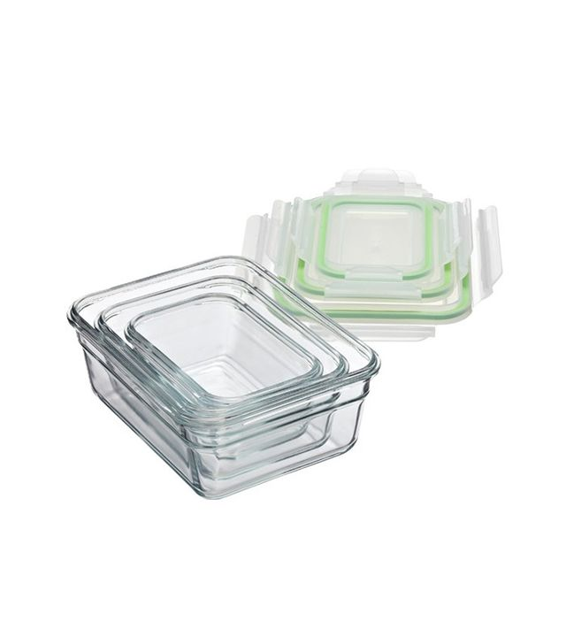 The Container Store Glasslock Rectangular Containers