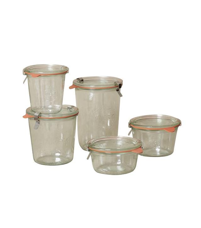West Elm Week Glass Jars