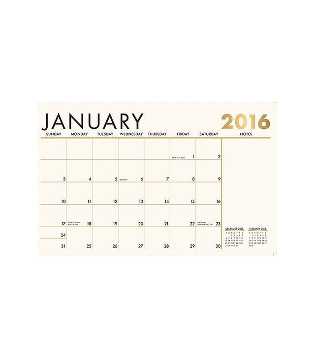 Paper Source Foil Blotter Calendar