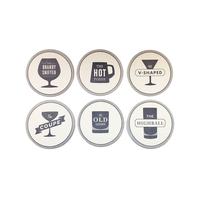 Liberty Trading Co. Coaster Set Happy Hour