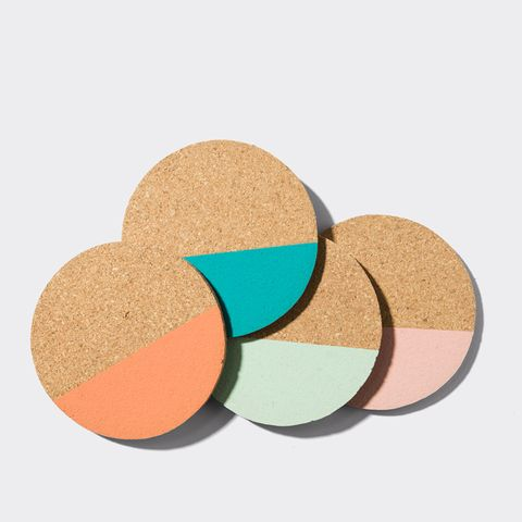 Cork Beverage Coaster Set