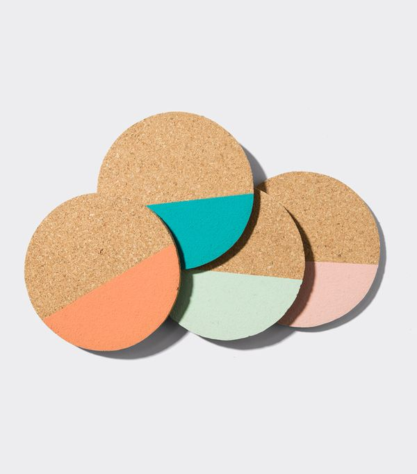 Mako Cork Beverage Coaster Set
