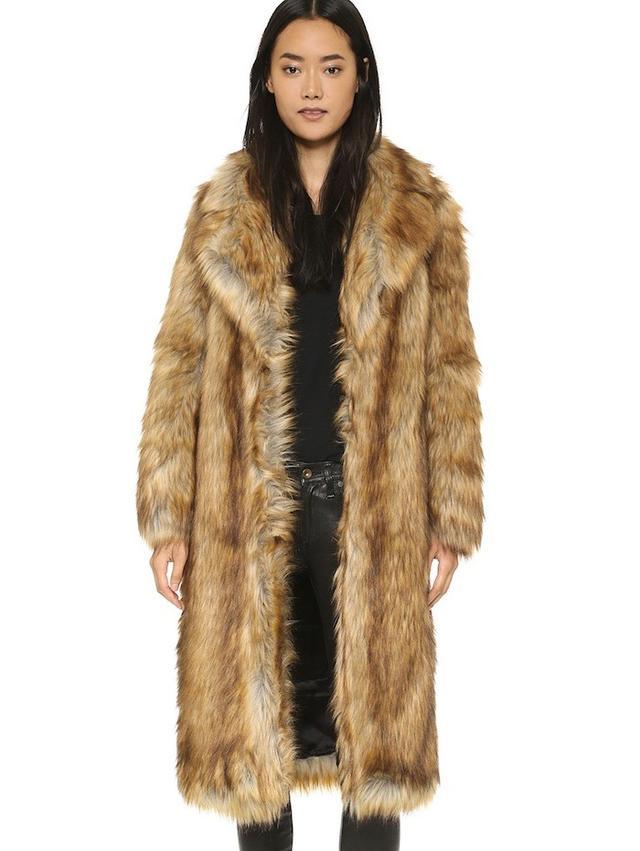Whistles Wolfie Faux Fur Coat