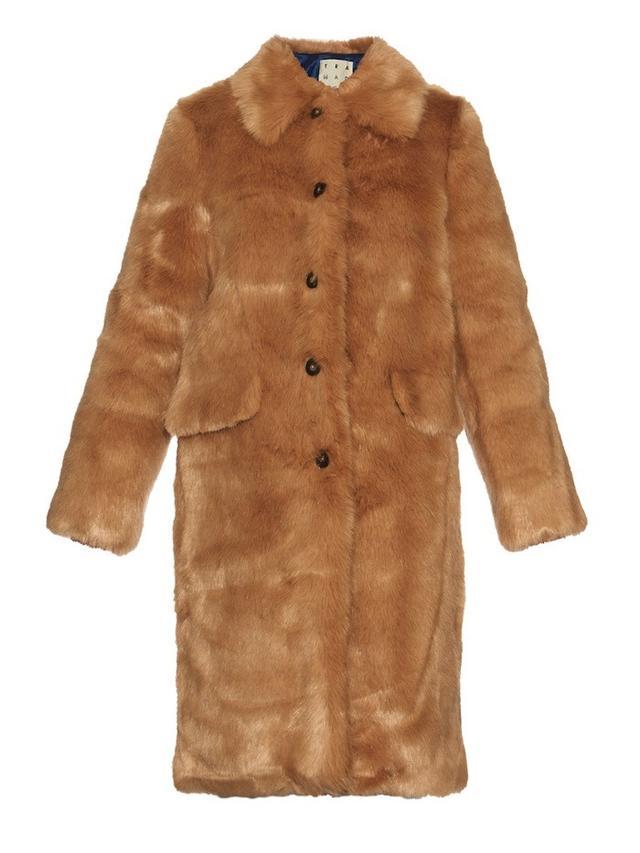 Trademark Faux-Fur long coat