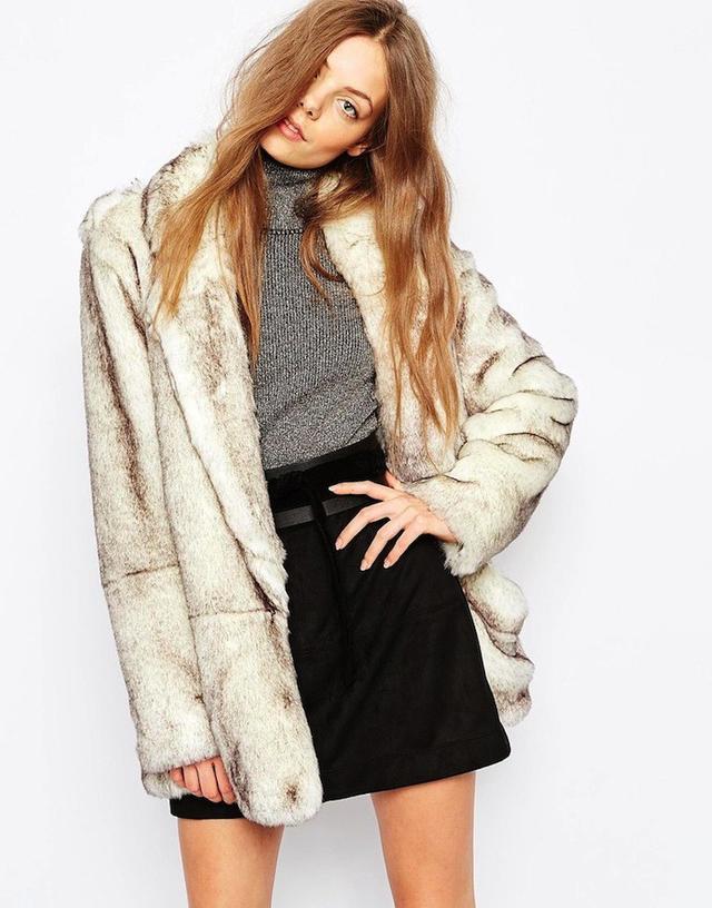 Urbancode Faux Fur Polar Bear Jacket With Pockets