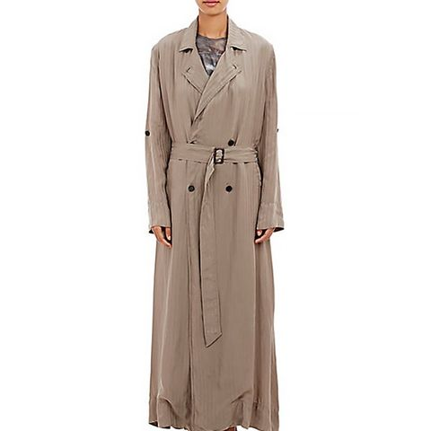 Double-Breasted Maxi Trench