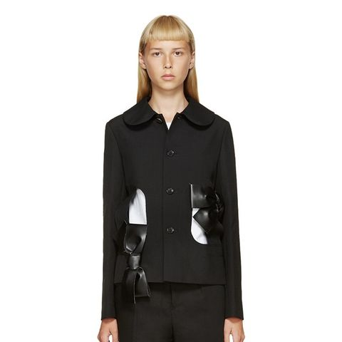 Black Cut-Out Bow Jacket
