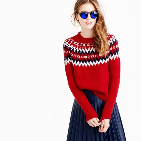 Nor'Easterly Sweater in Red White Navy