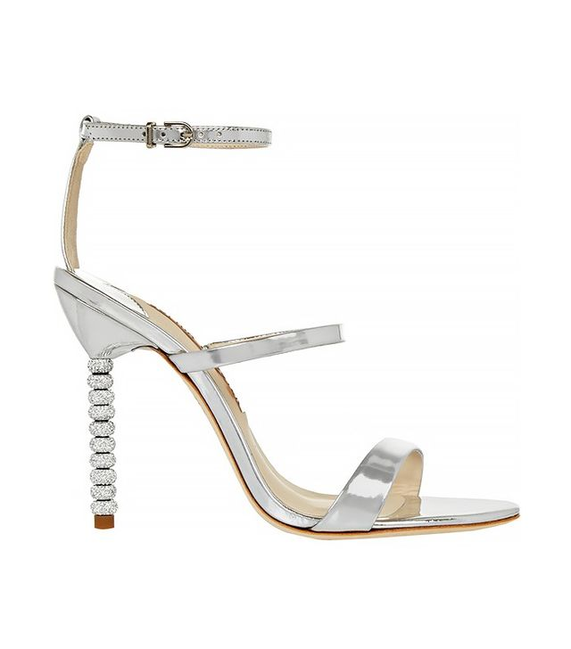 Sophia Webster Rosalind Crystal-Embellished Metallic Leather Sandals