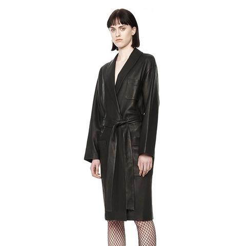 Leather Bathrobe Coat