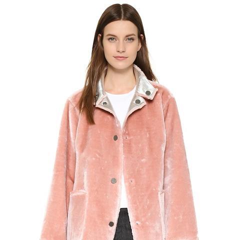 Faux Fur Reversible Coat
