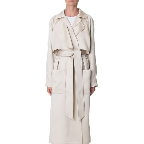 Double Face Satin Soft Trench Coat