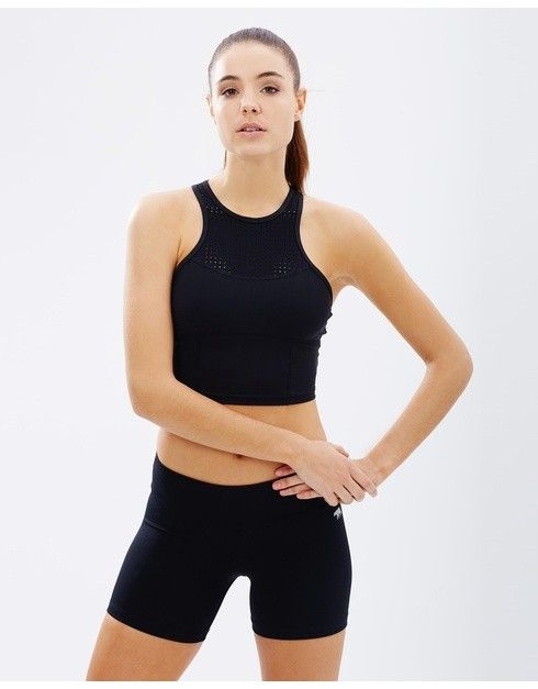Running Bare One Night Stand Cropped Workout Tank