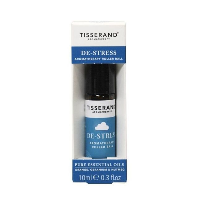 Tisserand Aromatherapy Essential Oil Remedy Roller Ball, De-Stress