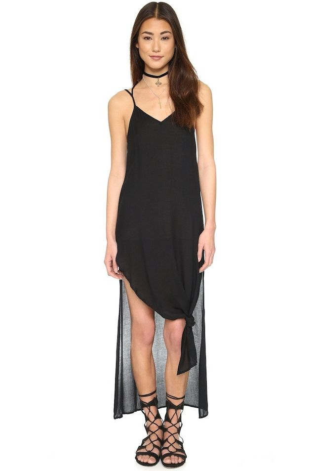 Free People Tie Up Knotted Slip