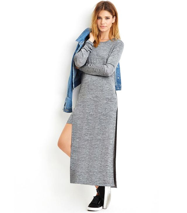 Forever 21 Contemporary Layered Stretchy Marled Dress