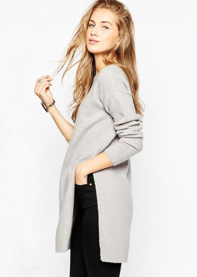 ASOS Tunic Sweater With Side Splits