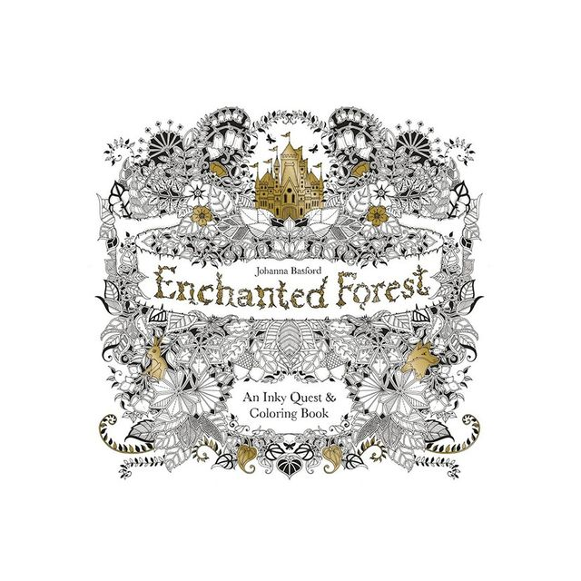 Johanna Basford Enchanted Forest colouring book