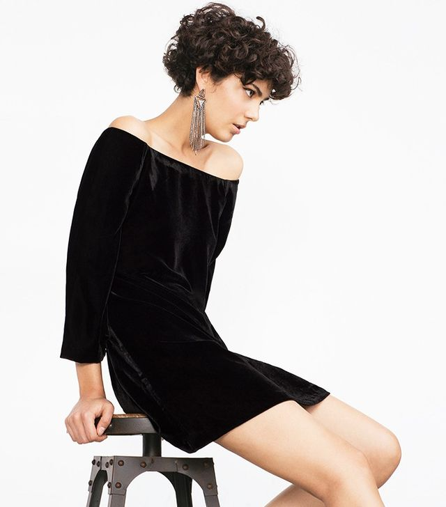 Zara Short Velvet Dress
