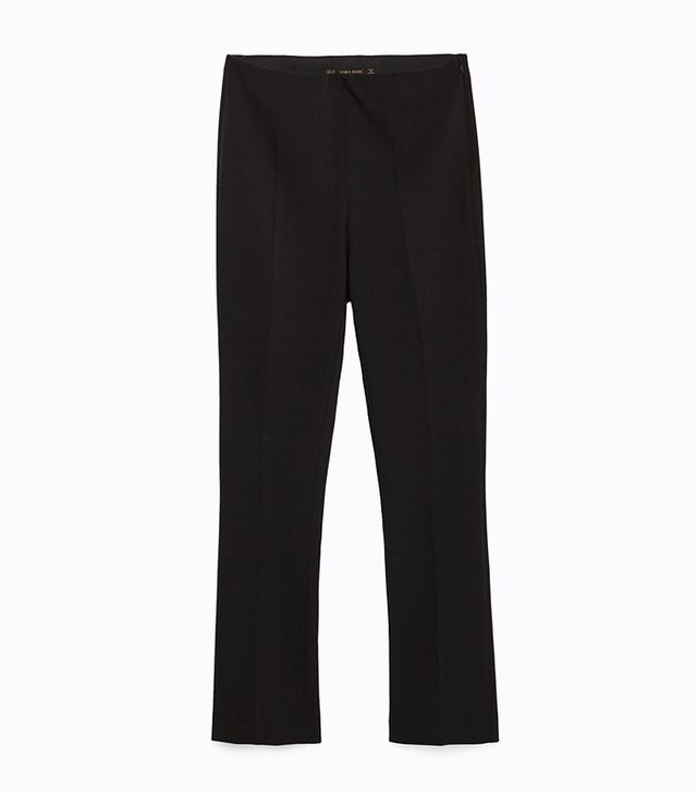 Zara Cropped Bell Bottom Trousers