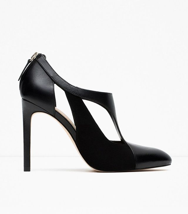 Zara Combined Leather High Heel Shoes