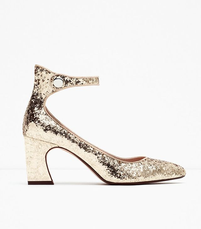 Zara Glitter High Heel Shoes
