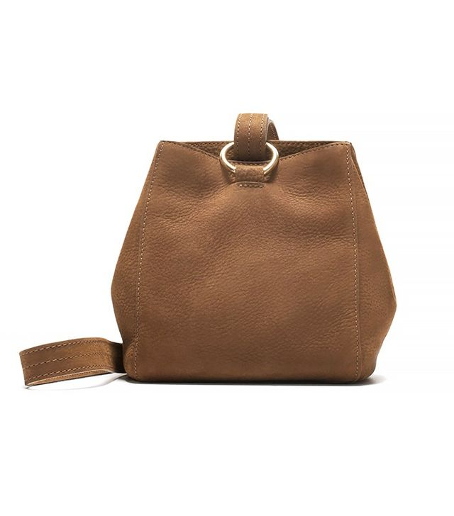 Zara Leather Bucket Bag