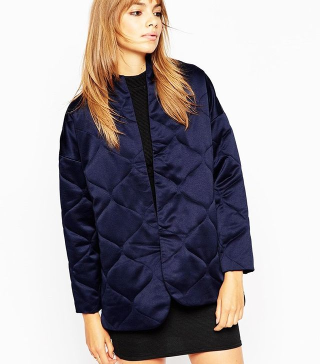 ASOS Premium Quilted Satin Jacket