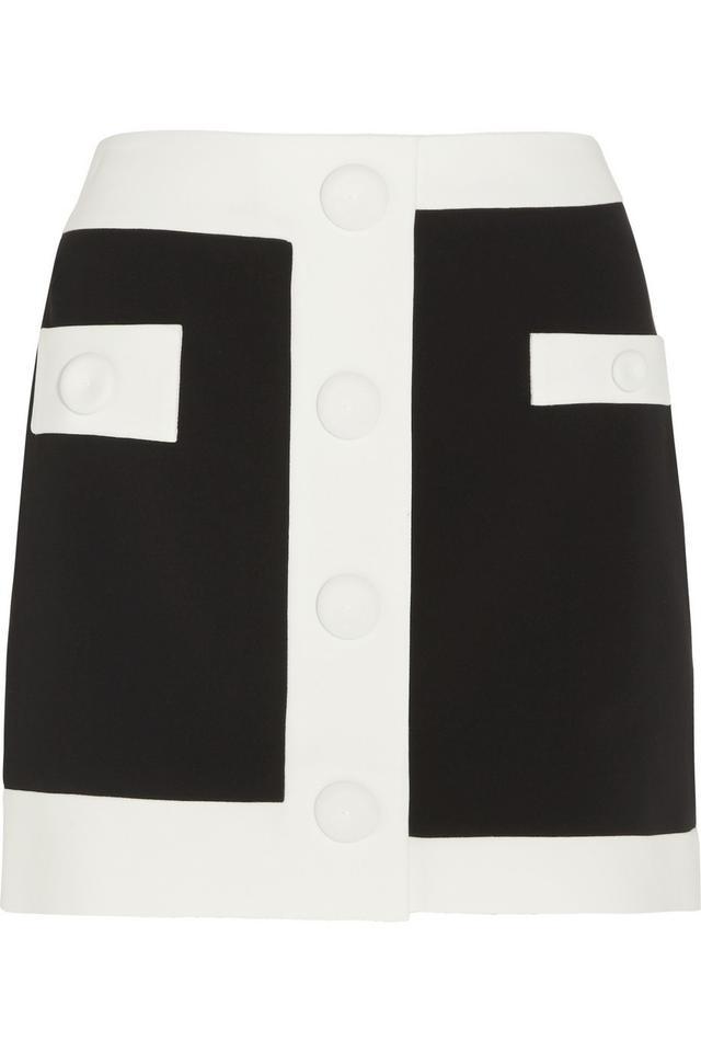 Moschino Boutique Two-Tone Crepe Mini Skirt