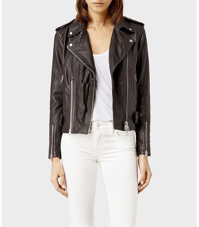 AllSaints Addison Leather Biker Jacket