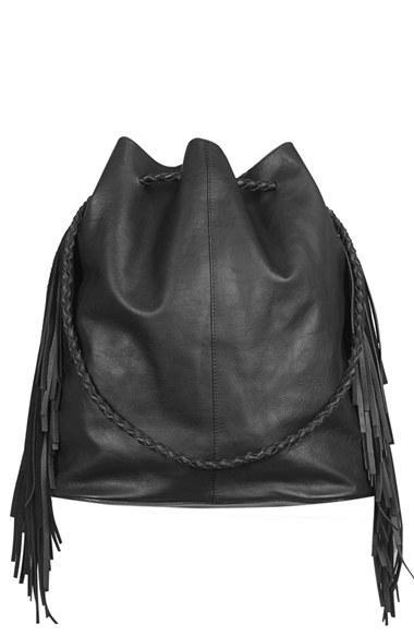 Topshop Topshop Phoenix Leather Bucket Bag