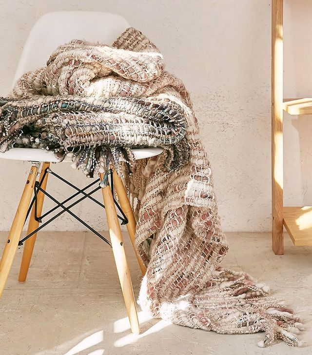 Thea Chunky Ombre Knit Throw Blanket