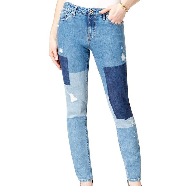 Tommy Hilfiger Skinnny-Leg Patched Jeans