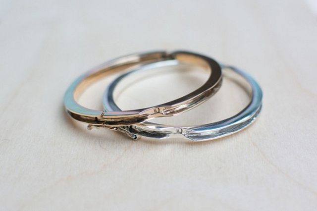 LD Jewelry Co. Wide Channel Band-It Hinge Cuff