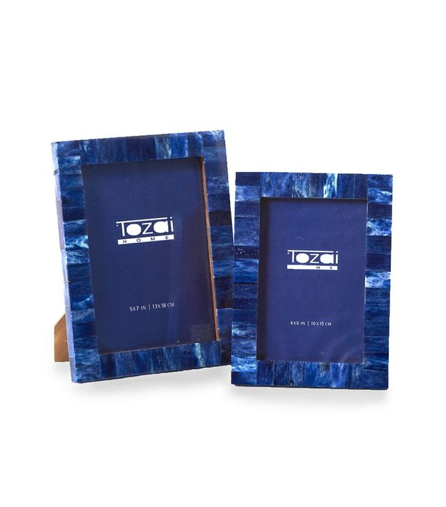 Bliss Home and Design Lapis Tile Set of Two Frames