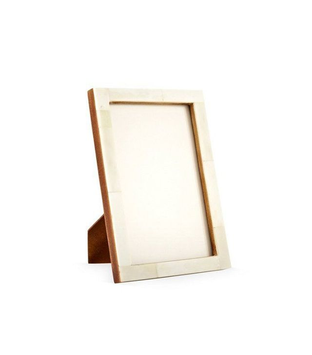 One Kings Lane Horn Frame in Cream